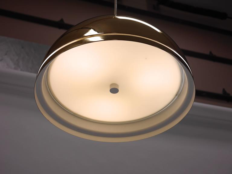 Vintage Brass Lightolier Pendant Lamp For Sale at 1stdibs