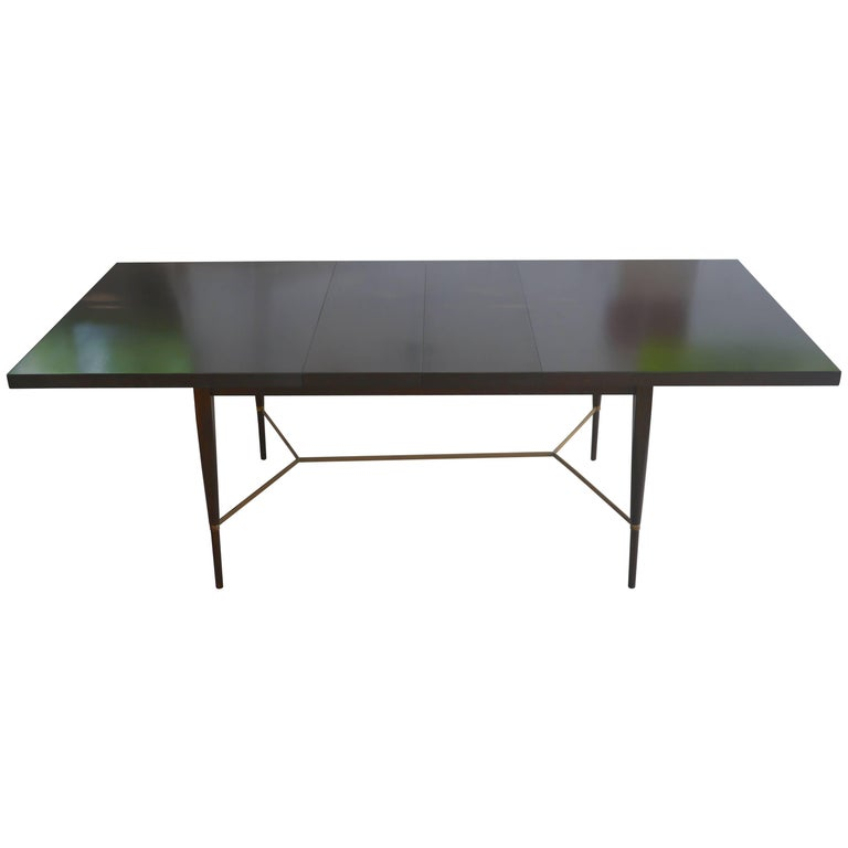 Paul McCobb Irwin Collection Dining Table with Brass Stretcher