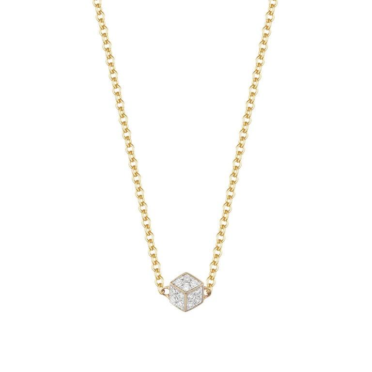 18 Karat Yellow Gold Brillante 'Natalie' Pendant Necklace