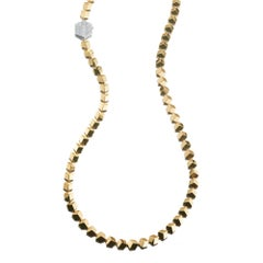 18 Karat Yellow Gold Brillante Necklace with Diamond Clasp, 0.97 Carat