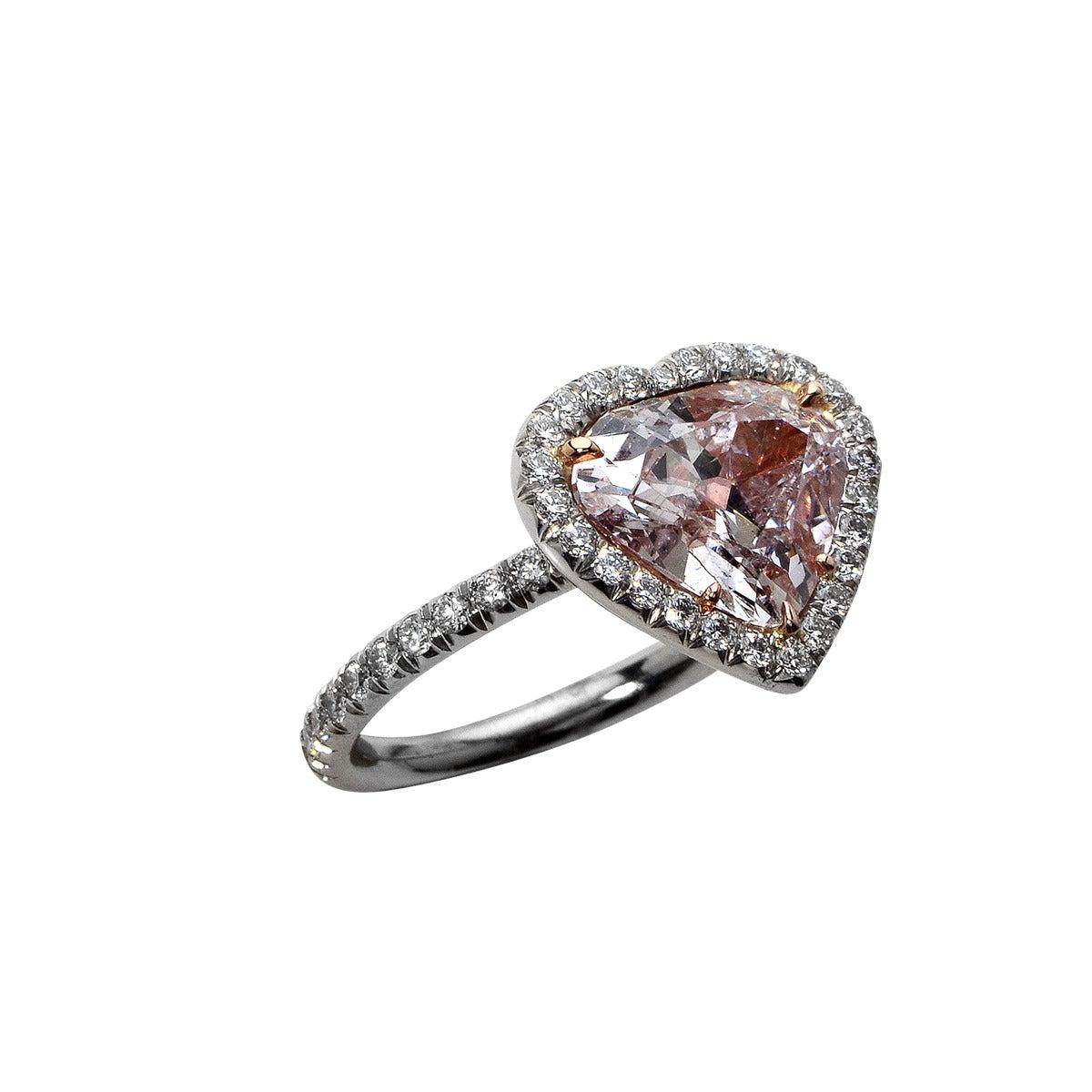 2 66 Carat Light Pink Diamond Platinum Ring at 1stdibs