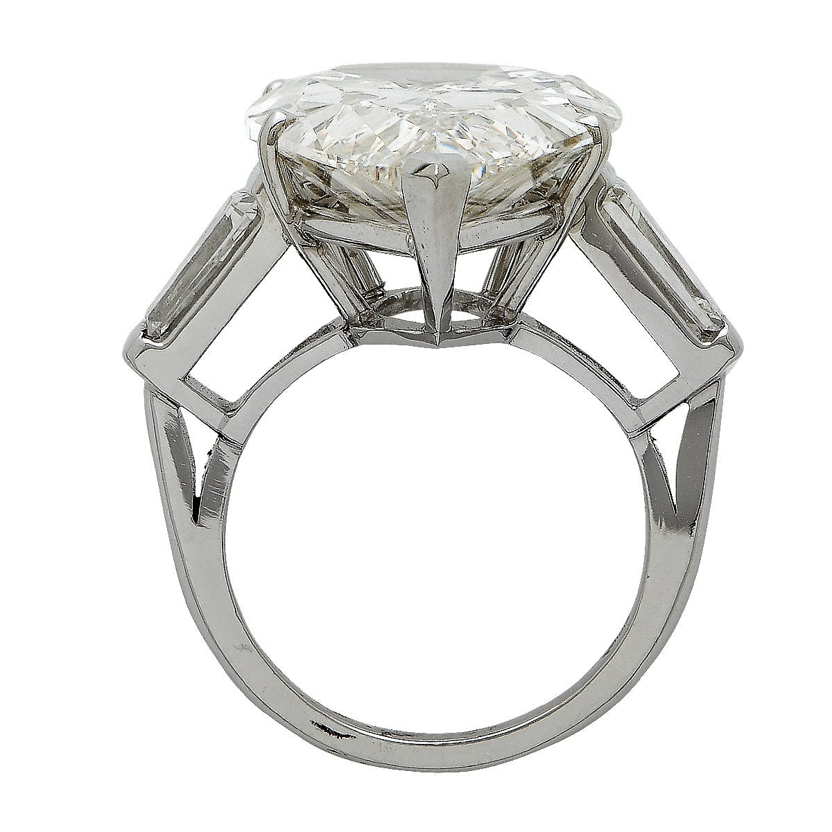 15 07 Carat GIA Cert Pear Shaped Diamond Ring at 1stdibs
