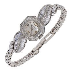 Gubelin Lady's Diamond Platinum Wristwatch
