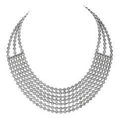 41.68 Carats Diamonds Gold Necklace