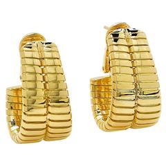 Bulgari Gold Hoop Earrings.