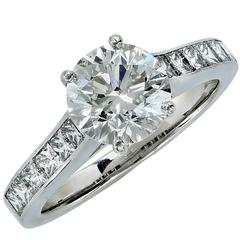 1.55 Carat GIA Certified Diamond Gold Engagement Ring