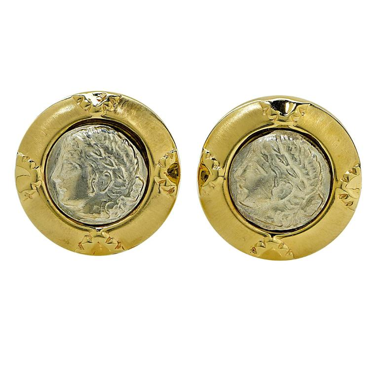 Gold Roman Coin Earrings