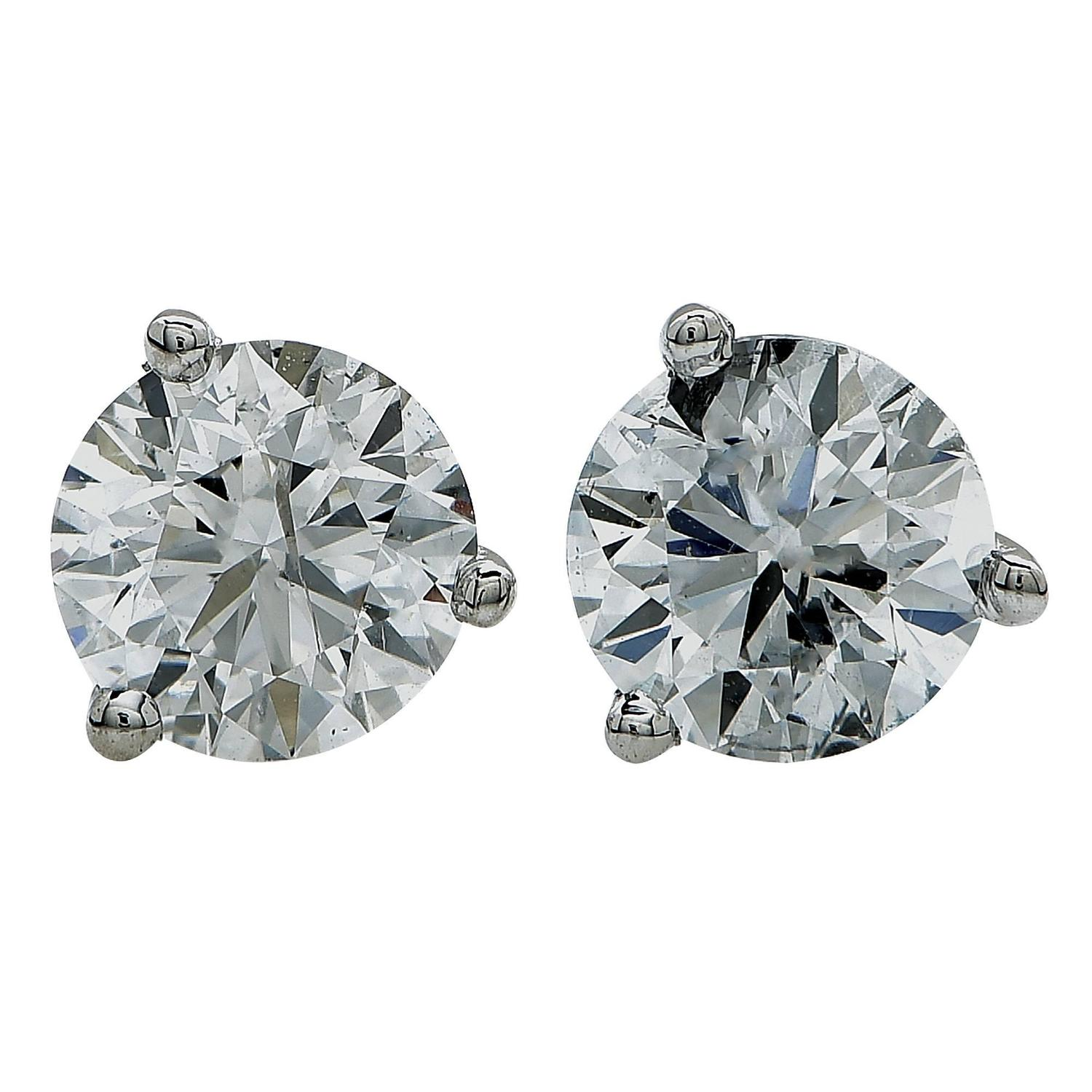 1 carat stud earrings sale 1 13 carat gold stud earrings for sale at 1stdibs 6353