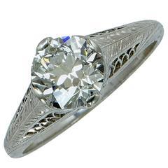 1.50 Carat Art Deco Diamond Engagement Ring