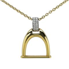 Roberto Coin Diamond Two Color Gold Cheval Horse Bit Necklace