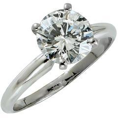 2.03 Carat GIA Diamond gold Engagement Ring