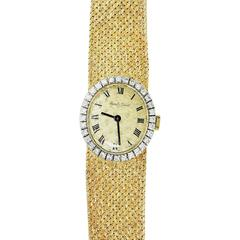 Bueche Girod Ladies Yellow and White Gold Diamond Wristwatch