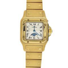 Cartier yellow gold Santos Wristwatch