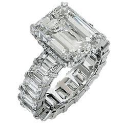 Incredible 14.96 Carat Diamond Engagement Ring