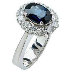 2.70 Carat Sapphire and Diamond Ring