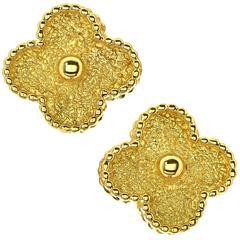Van Cleef & Arpels Yellow Gold Alhambra Earrings