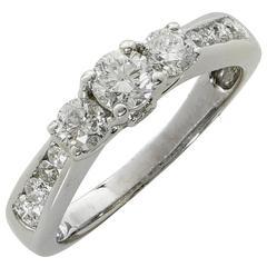 .96 Carat Total Weight Diamond Engagement Ring