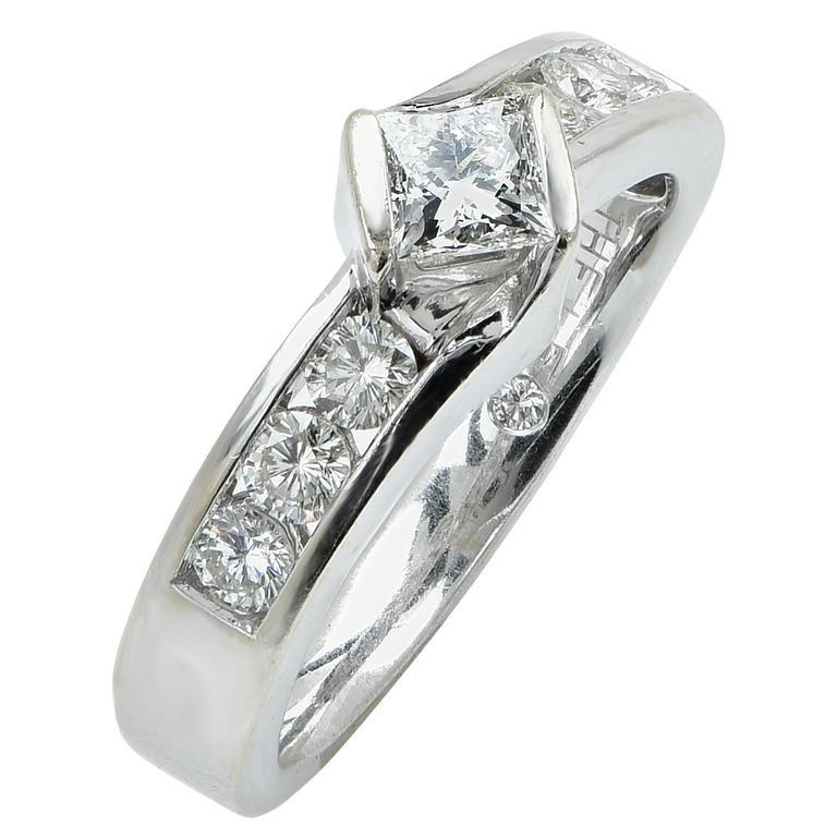 1 Carat Total Weight Diamond Engagement Ring