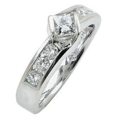 1 Carat Total Weight Diamond Engagement Ring