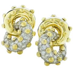 Unique Diamond Clip Earrings