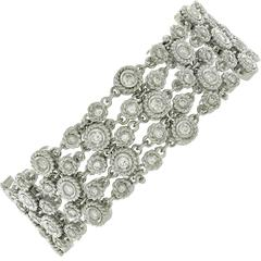 4.20 Carats Diamonds White Gold Bracelet
