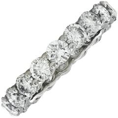 3.43 Carat Diamond Platinum Wedding Eternity Band Ring