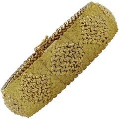 Yellow Gold Hidden Face Watch Bracelet