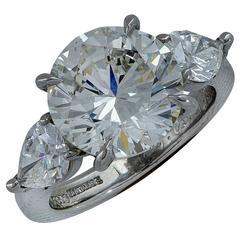 5.03 Carat GIA Diamond Platinum Engagement Ring
