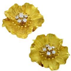 Tiffany & Co. Alpine Rose Diamond Earrings