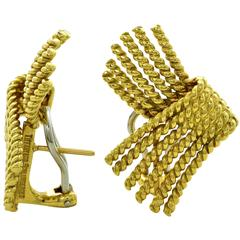 Tiffany & Co. Schlumberger V-Rope Yellow Gold Earrings