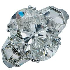 7.52 Carat Diamond Platinum Engagement Ring