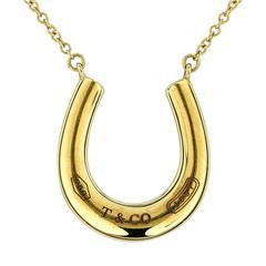 Tiffany & Co. 1837 Gold Horseshoe Pendant and Necklace