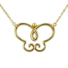 Tiffany & Co. Picasso Gold Villa Paloma Butterfly necklace
