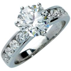 Tiffany & Co. Stunning 3.15 Carat Diamond Engagement Ring