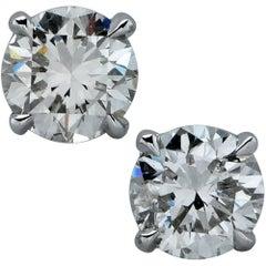 1 Carat Diamond Solitaire Stud Earrings