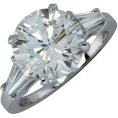 4.34 Carat Diamond Platinum Engagement Ring