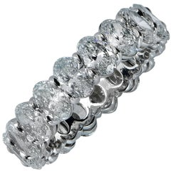 4.52 Carat Oval Cut Diamond Eternity Band