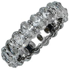 4.61 Carat Oval Cut Diamond Eternity Band