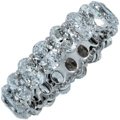 4.45 Carat Oval Cut Diamond Eternity Band