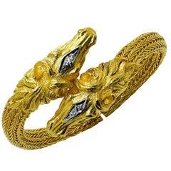 22 Karat Gold Horse Motif Bracelet