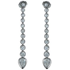 Handmade 5.40 Carat Diamond Dangle Earrings