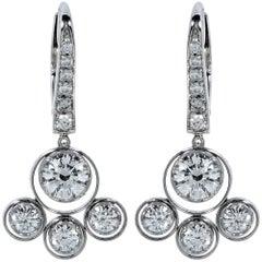 Handmade Diamond Chandelier Earrings