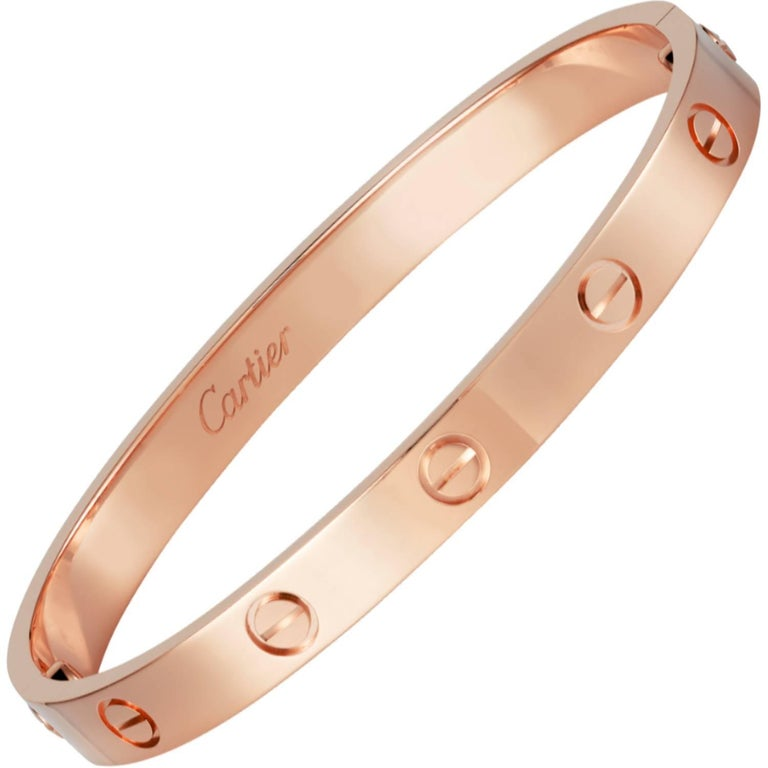Cartier Rose Gold Love Bangle For Sale