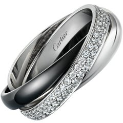 Cartier Trinity De Cartier Diamond, White Gold and Ceramic Ring