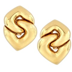 Bvlgari 18 Karat Yellow Gold Doppio Earrings
