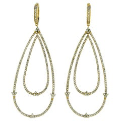 2.30 Carat Diamond Dangle Earrings