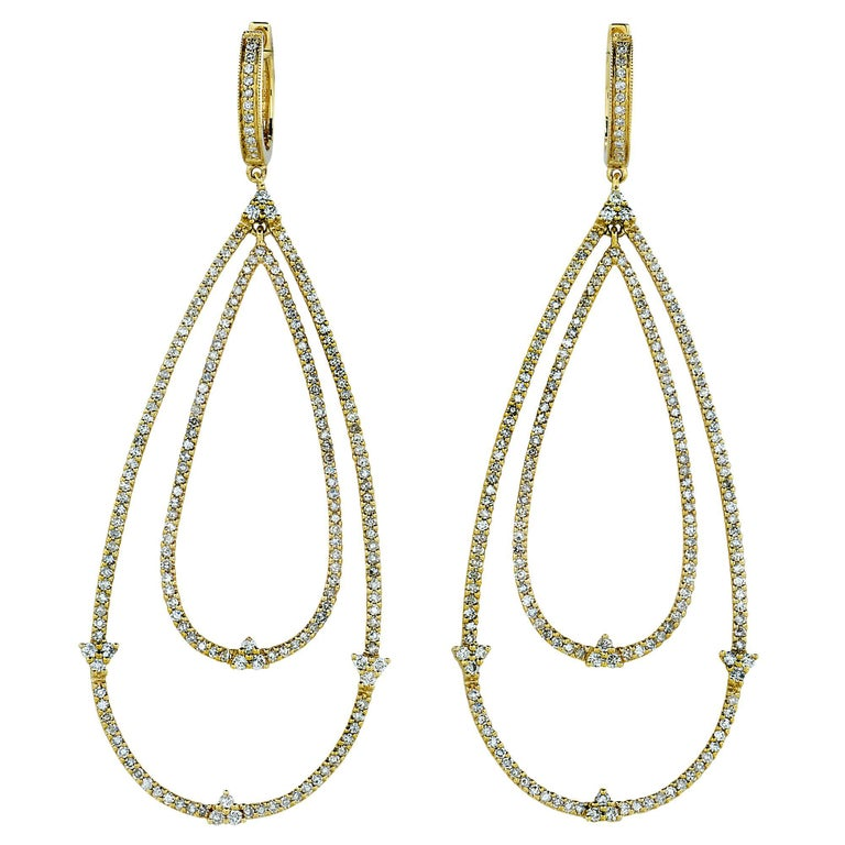 2.30 Carat Diamond Dangle Earrings