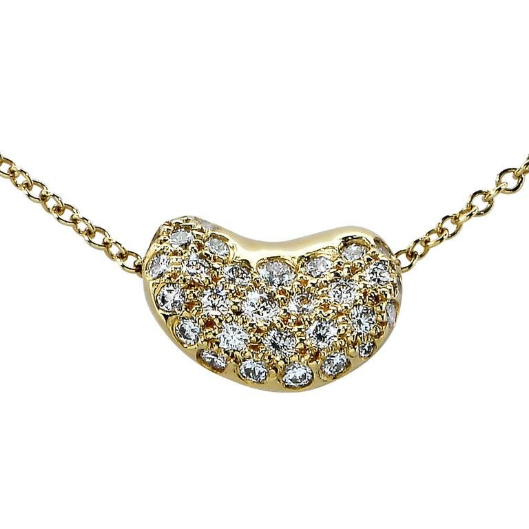 Tiffany And Co Elsa Peretti Bean Necklace At 1stdibs