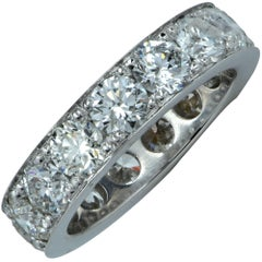 4.58 Carat Diamond Wedding Eternity Band