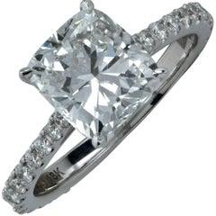 GIA Graded 2.51 Carat Diamond Engagement Ring